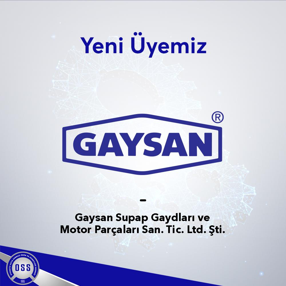 Yeni Üyemiz/ Gaysan Supap Gaydları ve Motor Parçaları San. Tic. Ltd. Şti.