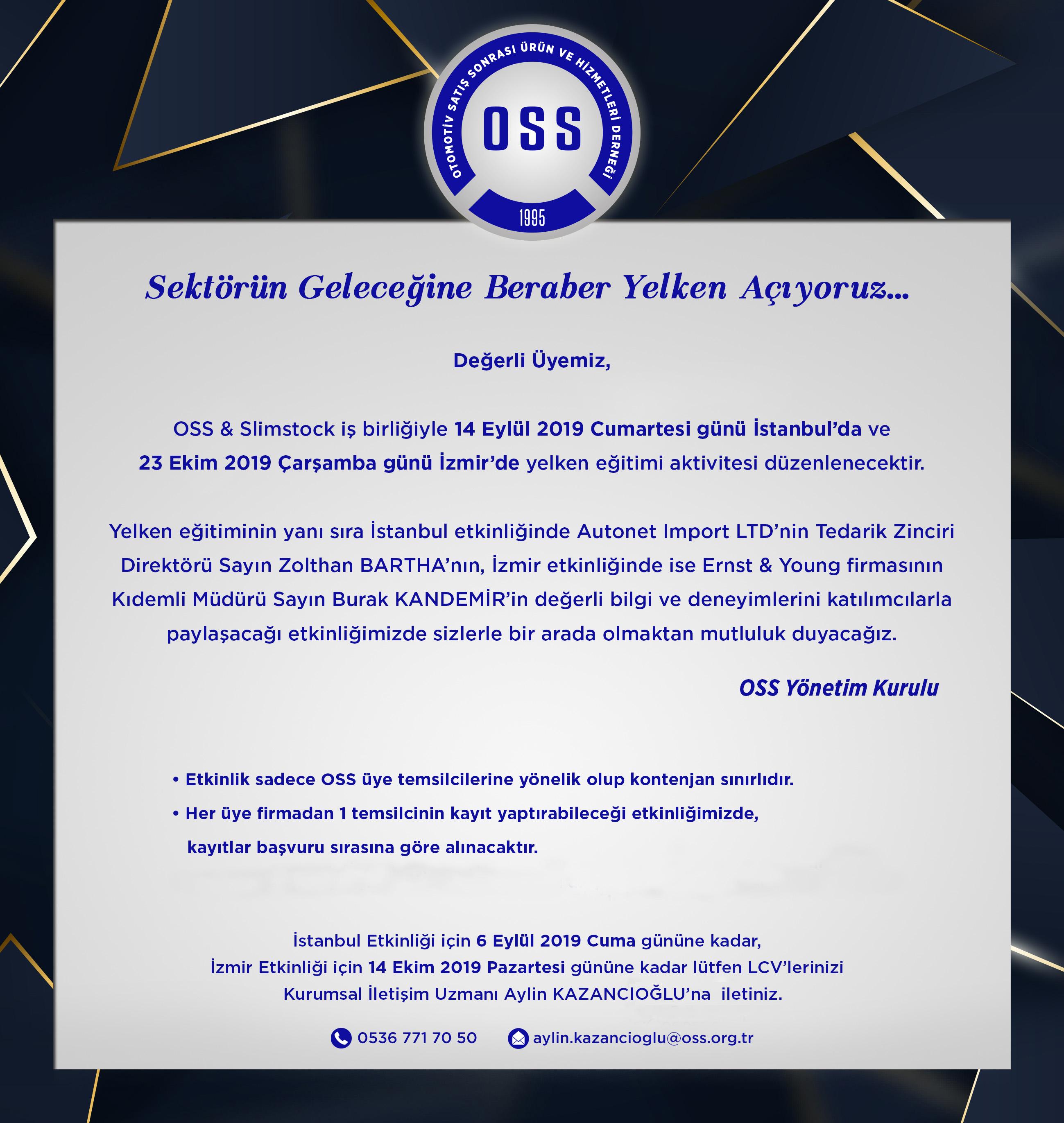 OSS & Slimstock Yelken Etkinliği