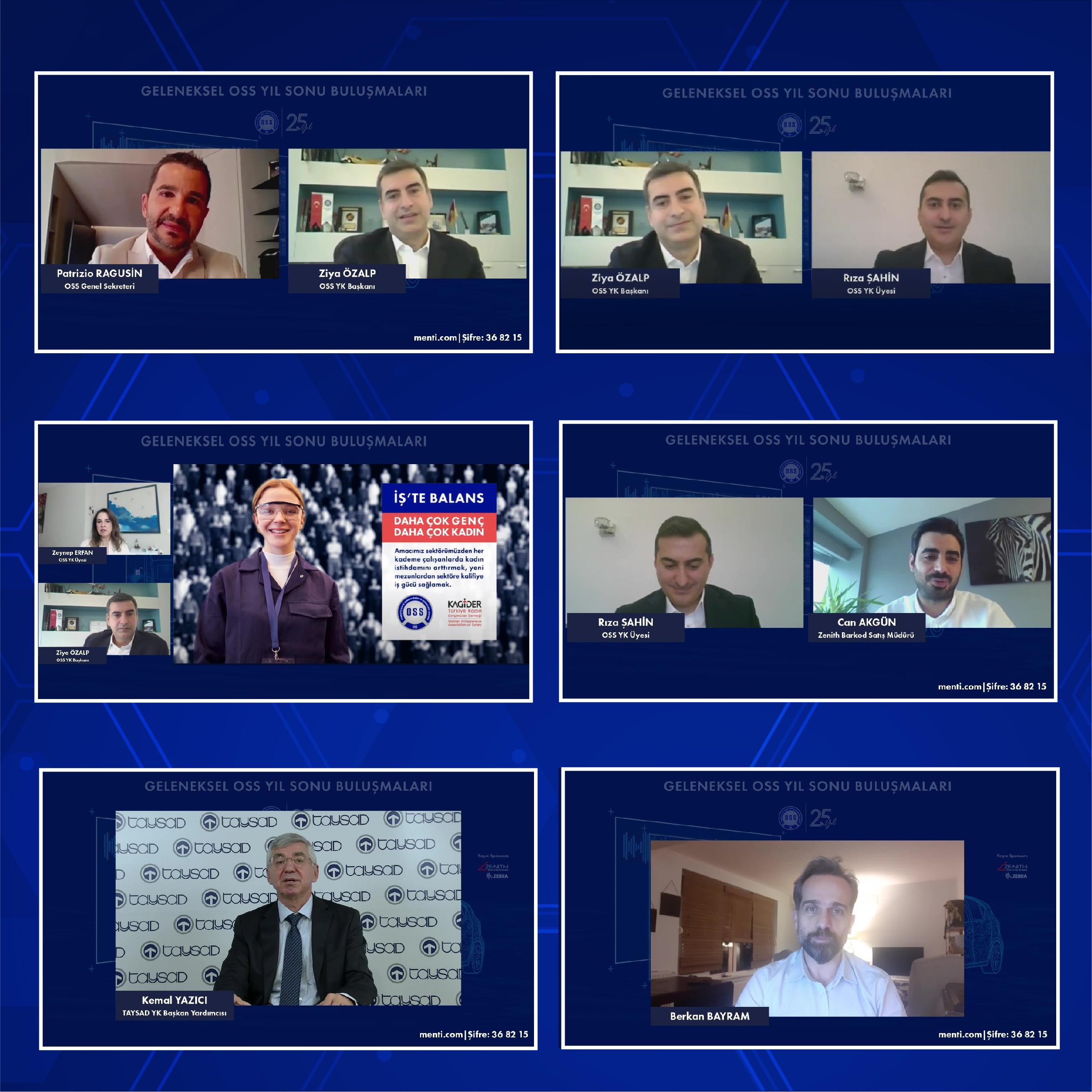 OSS Üyeleri Online Yıl Sonu Buluşmasında  Bir Araya Geldi