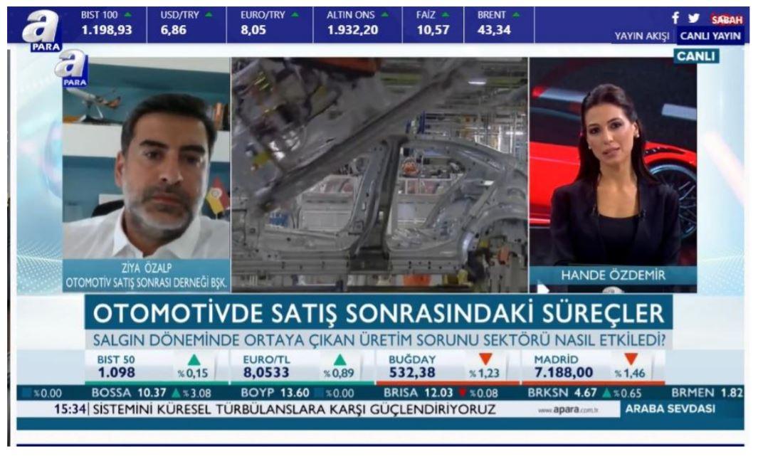 OSS Başkanı Ziya Özalp A Haber Kanalında Araba Sevdası Programının Canlı Yayın Konuğu Oldu