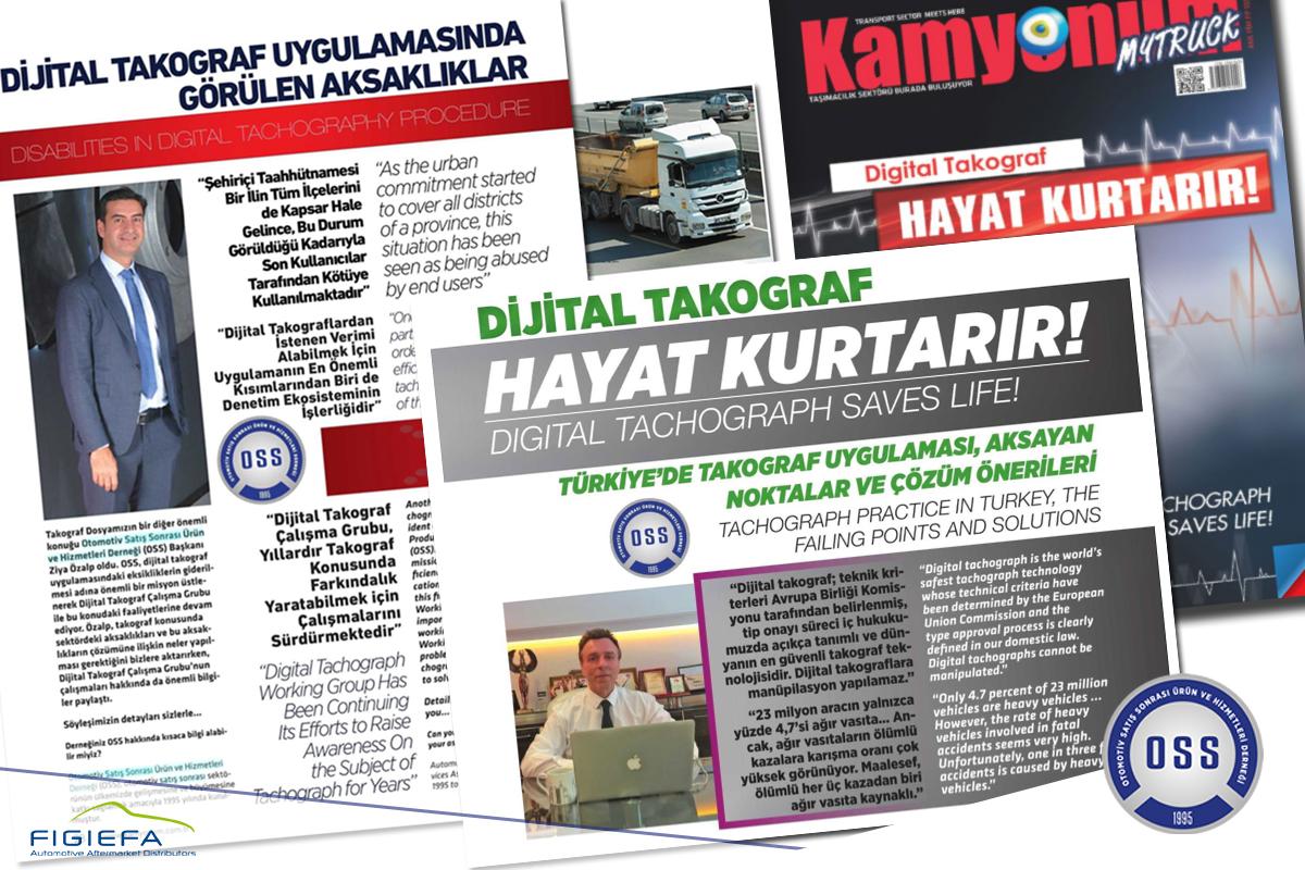OSS, Türkiye'deki Dijital Takograf Uygulamaları ve Aksaklıklarını Kamyonum'a Anlattı